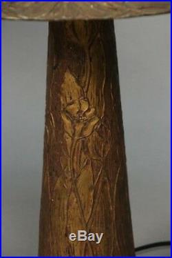 Circa 1910 Lamp Arts And Crafts MissionCirca 1910 table lamp slag glass. (11033)