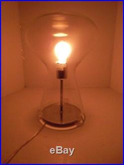 Clear Modern Art Glass Mushroom Domed Table Lamp