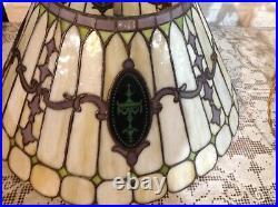 Duffner & Kimberly leaded glass lamp c1907 Handel Tiffany studios arts craft era