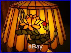 Duffner LEADED GLASS LAMP SHADE Handel Tiffany arts crafts Wilkinson era