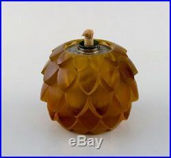 Early René Lalique Lampe Berger. Art deco perfume burner, 1930s