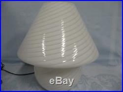 FANTASTIC VINTAGE MURANO MUSHROOM LAMP withSWIRL GLASS BY PAOLO VENINI, 1970's