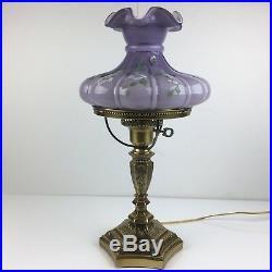 Fenton Lamp Violet Overlay LAVENDER LADY 19 1/2 student 6806OS
