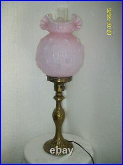 Fenton Pink Rose Pillar Lamp