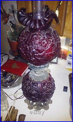 Fenton cranberry lamp
