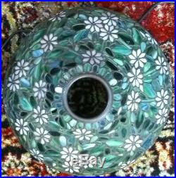 Fine Handel Leaded glass lamp signed base Tiffany Duffner arts crafts slag era