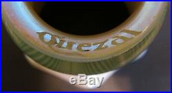 Fine Pair of SIGNED QUEZAL Green & Gold Art Glass Shades c. 1910s antique