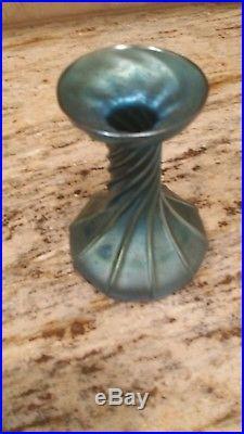 Fine Tiffany Studios Favrile Glass Oil Lamp Gorgeous Blues greens