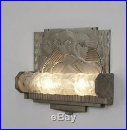 GENET ET MICHON FRENCH ART DECO WALL LIGHT 1925 1930 SCONCE. Muller era