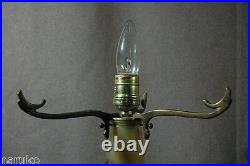 Galle 21 Acid Cut Back Cameo Glass Table Lamp Internally Decorated Perfect