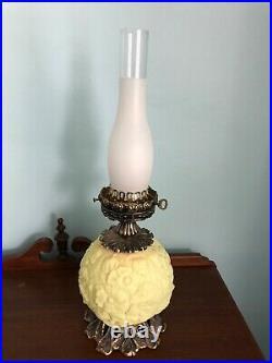 Gorgeous FENTON BURMESE GLASS Gone with the Wind Lamp Light POPPY