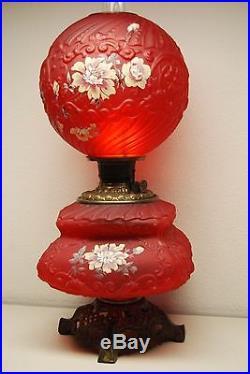 Gwtw Kerosene Oil Antique Banquet Victirian Parlor American Art Nouveau Lamp