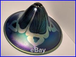 Hand Blown Art Glass Lamp and Shade By Phoenix Studios (Signed Carl Radke)