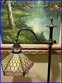 Handel Arts Crafts Leaded Slag Glass Antique Vintage Lamp Bradley Hubbard Era