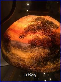 Handel Floor Lamp, Leaded, Slag, Stained Glass Shade, Arts Crafts Era