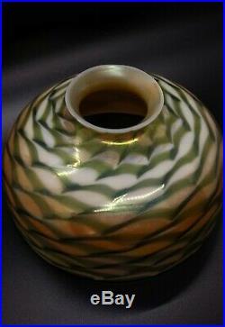Handel Lamp Co. Lamp- Murano Decorated Art Nouveau Glass Shade Quezal Tiffany Era