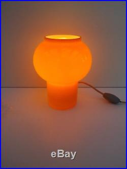 Holmegaard 1960s/70s Carnaby Glass Orange & White Cased Glass Lamp
