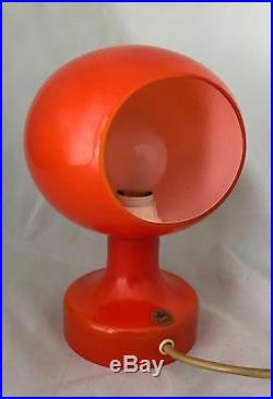 Holmegaard Astronaut Desk Lamp 60s 70s orange and White Cased with Label