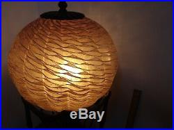Hot Air Balloon Lamp Maitland Smith Style withAmber White Art Glass Lampshade