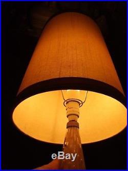 Italian Murano-Sommerso-Glass Gold Lamp Base w Shade Mid -Century Retro 1940's
