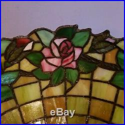 J. A. Whaley Arts & Crafts Leaded Slag Stained Glass Lamp Tiffany Handel Era