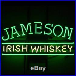 Jameson Irish Whiskey Neon Light Sign 17x14 Beer Cave Gift Lamp Artwork Glass
