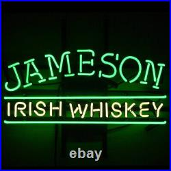 Jameson Irish Whiskey Neon Light Sign 20x10 Beer Cave Gift Lamp Artwork Glass