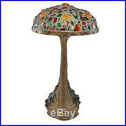 Large Art Nouveau Austrian Table Lamp With Fish at Base