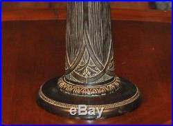 Large Arts and Crafts Slag Glass Lamp Bradley & Hubbard