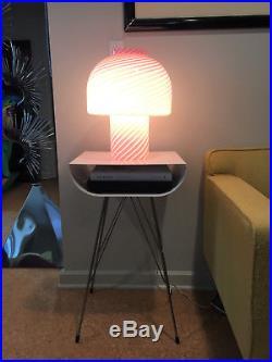 Large Mid-Century Modern Murano Italy Glass Lamp