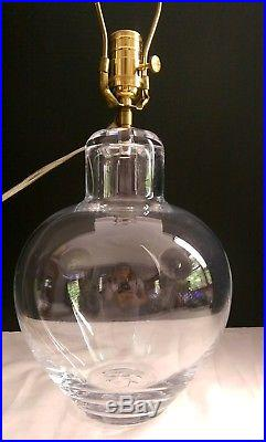 Large SIMON PEARCE GLASS TABLE LAMP Electric Studio Art Vermont VT