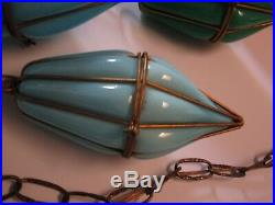 MID Century Modern Hanging Lamp Glass Colorful Large Italian Bohemian Pop Art