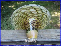 Magnificent Art Glass Torchiere Floor Lamp Shade 16 x 7 1/4