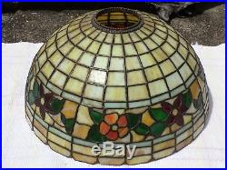 Mission art craft slag stained leaded glass lamp shade wilkinson handel tiffany