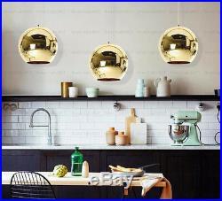 Modern Art Glass Ball Lamp Pendant Light Mirror Chandelier For Bar Cafe Club