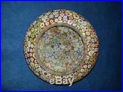 Murano Millefiori Glass Tiny Lamp Thousand Flowers Mushroom Style Shade KB Italy