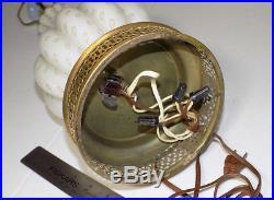 Murano glass lamp Barovier & Toso Seguso era ribbed gold controlled bubble