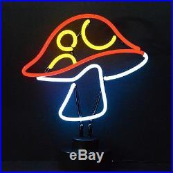 Mushroom neon sculpture Shrooms lamp light table hand blown glass art