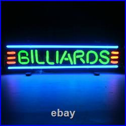 Neon Sign Billiards Pool table lamp wall light Game room cue stick Bar glass art