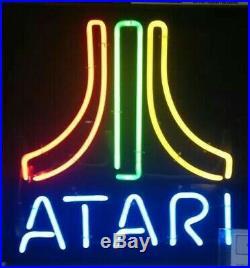 New Atari Four Colors Neon Light Sign 20x16 Beer Gift Lamp Bar Artwork Glass