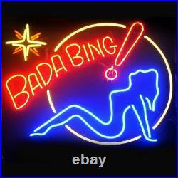 New Bada Bing Girl Neon Light Sign Lamp 17x14 Beer Gift Lamp Bar Artwork Glass