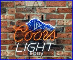 New Coors Mountain Neon Light Sign 17x14 Beer Gift Bar Real Glass Artwork Lamp