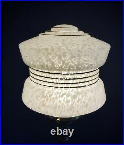 ORIGINAL 1930s ART DECO TABLE DESK LAMP. OPEN BARLEY TWIST STEM. GLOBE SHADE