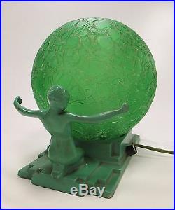 Original Art Deco FRANKART Model #L230 Nude Table Lamp ca 1920s-30s Very Nice