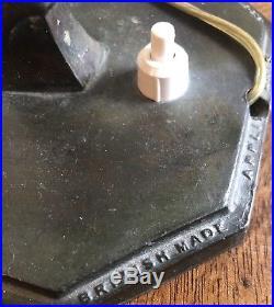 Original Art Deco Lady Lamp/ Light With Crackle Glass Shade C1931