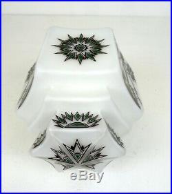 Original Rare Bauhaus Avantgarde Cubist Glass Ceiling Lamp 1925 Art Deco