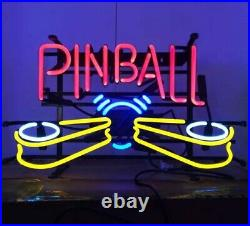 Pinball Machine Neon Lamp Sign 17x14 Bar Light Glass Artwork