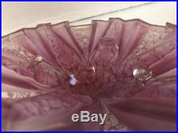 Pink Lilac Art Deco Molded Glass Lamp Shade Consolidated Martel R. Haley