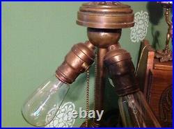 Pristine Wilkinson leaded glass lamp! Handel Tiffany studios Duffner arts crafts