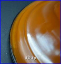 RARE ALADDIN ORANGE VENETIAN MODEL 12 ART CRAFT 1246 OIL LAMP #12 Burner Chimney
